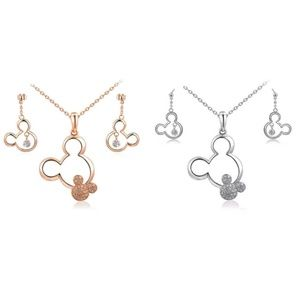 Rose gold or silver Mickey ear set!!
